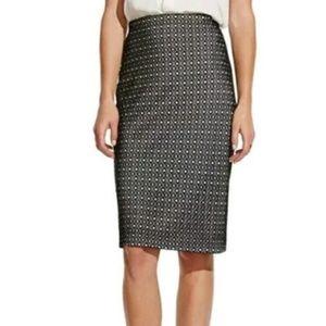 NWT Vince Camuto Black White Design Pencil Skirt